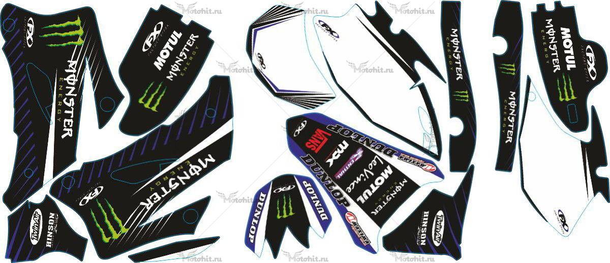Комплект наклеек Yamaha WR-250F-450F 2007-2011 MONSTER