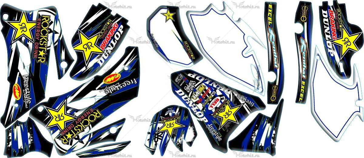 Комплект наклеек Yamaha WR-250F-450F 2007-2011 ROCKSTAR
