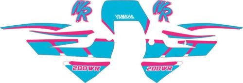 Комплект наклеек Yamaha WR-200 CYAN-PINK