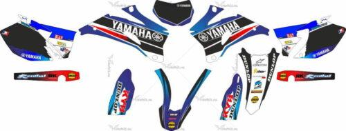 Комплект наклеек Yamaha WR-250 WR-450 2006-2012