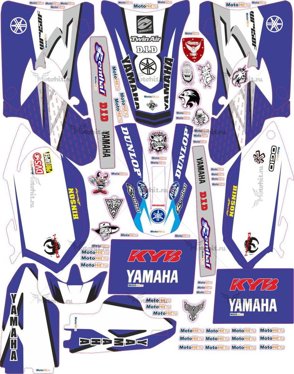 Комплект наклеек Yamaha WR-450 2005