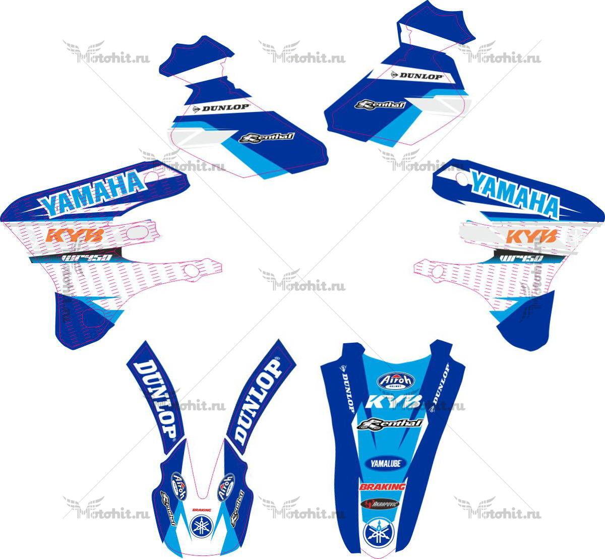 Комплект наклеек Yamaha WR-450 BLUE