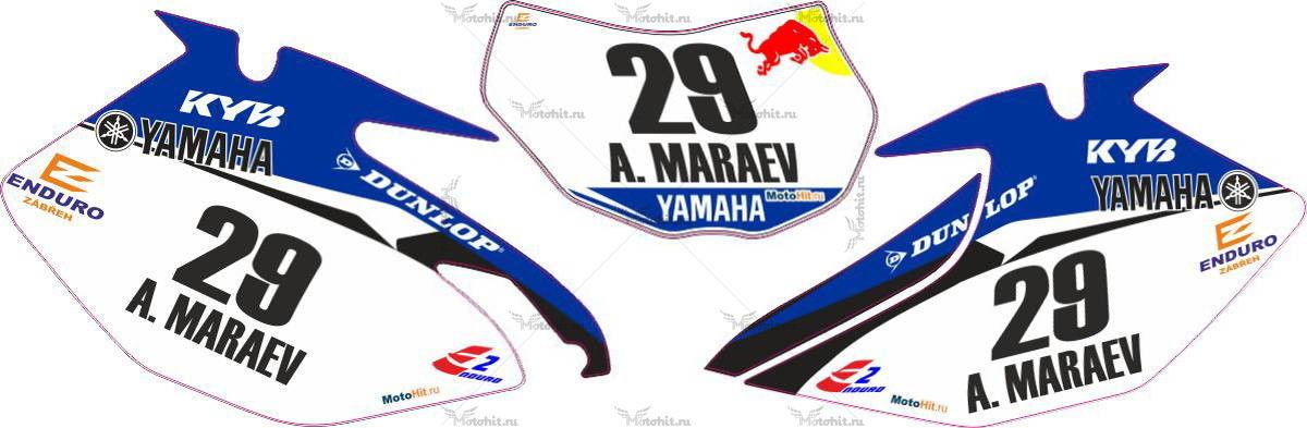Комплект наклеек Yamaha YZF-WR-450 2007 VOVES-PARTS
