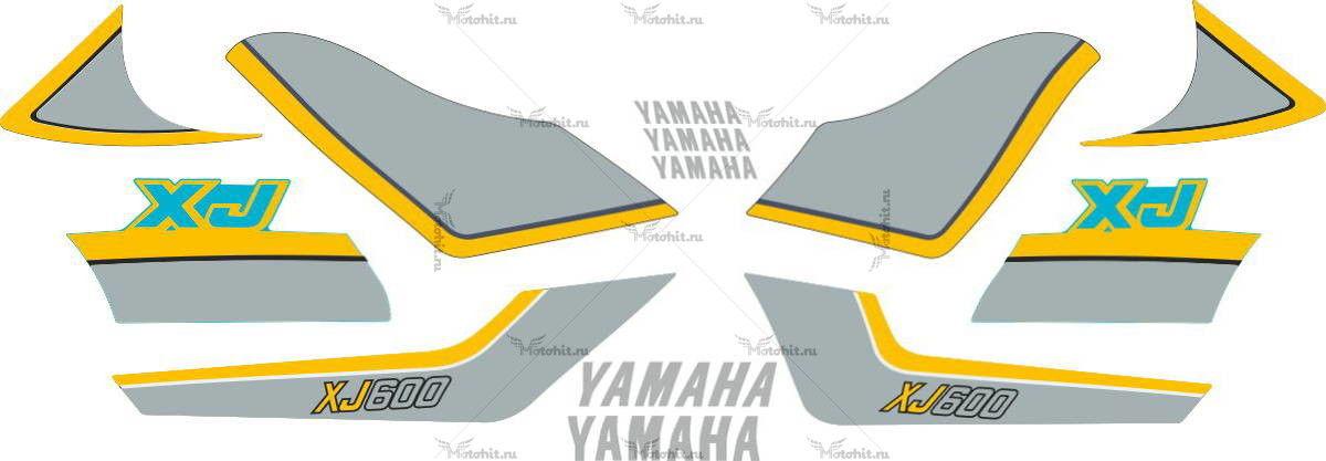 Комплект наклеек Yamaha XJ-600 1984