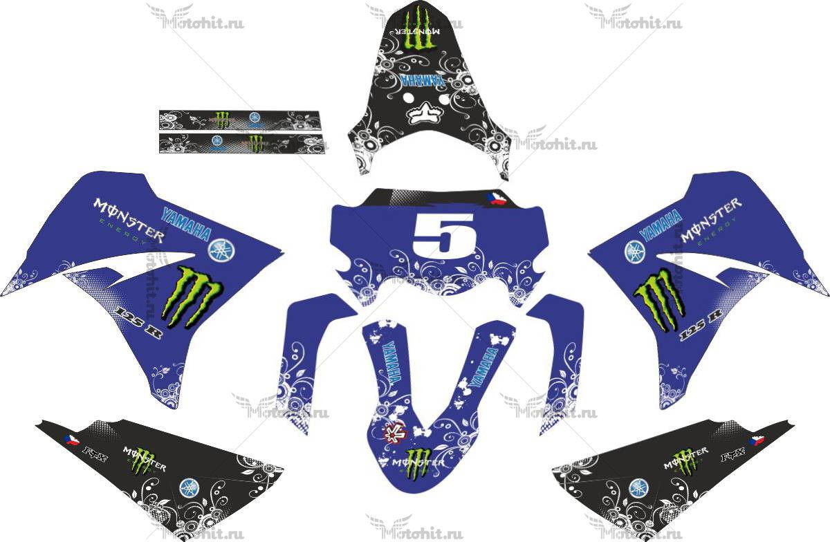 Комплект наклеек Yamaha XT-125 MILDBLUE