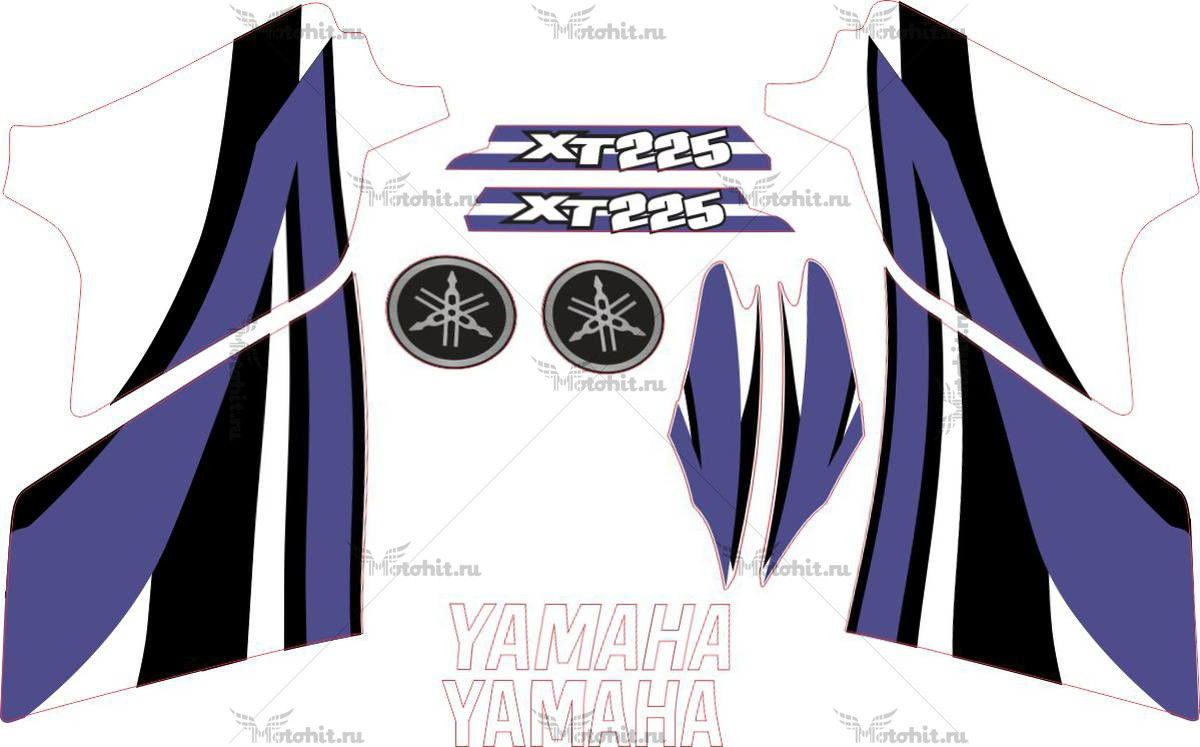 Комплект наклеек Yamaha XT-225 2007