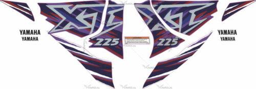 Комплект наклеек Yamaha XT-225 1997 BLUE