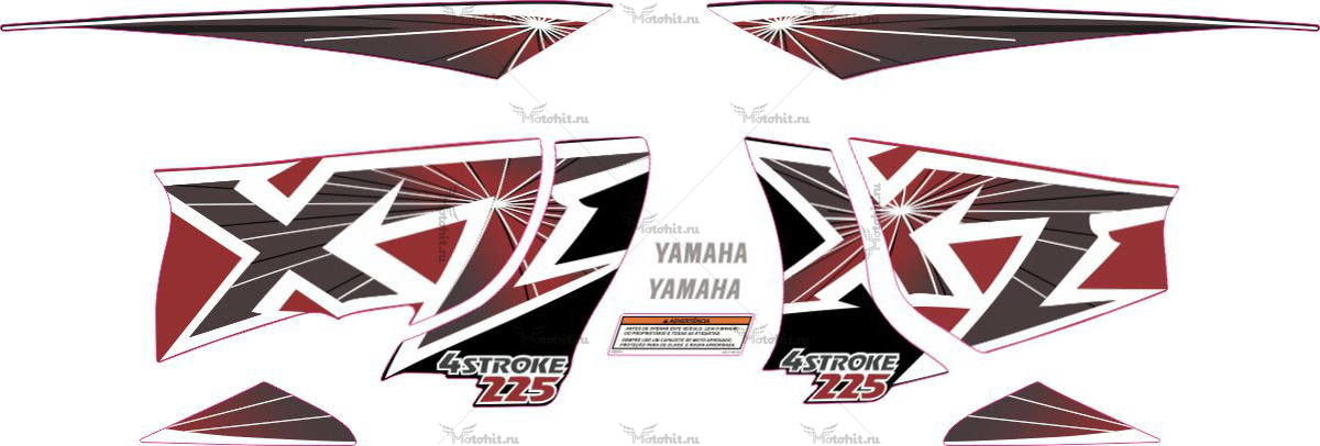 Комплект наклеек Yamaha XT-225 1999