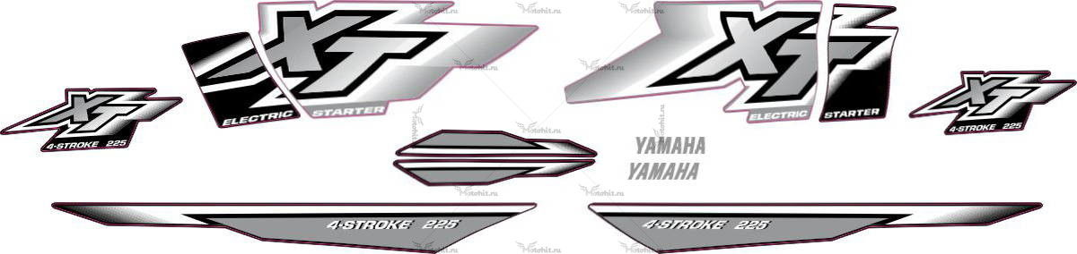 Комплект наклеек Yamaha XT-225 2000