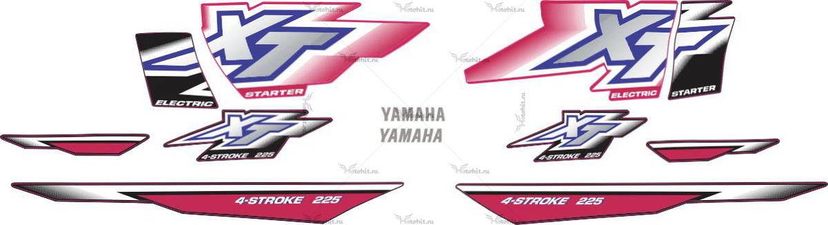 Комплект наклеек Yamaha XT-225 2001
