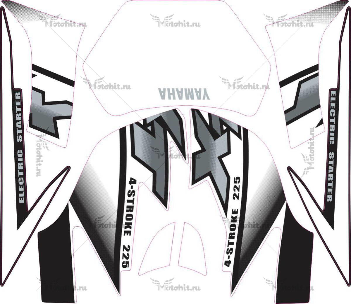Комплект наклеек Yamaha XT-225 2002 WHITE
