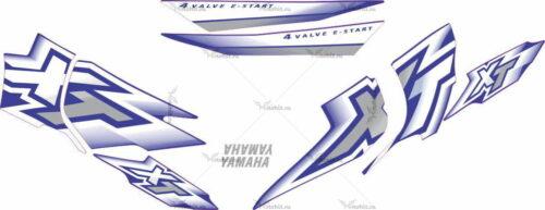 Комплект наклеек Yamaha XT-600 2000-2002 BLUE
