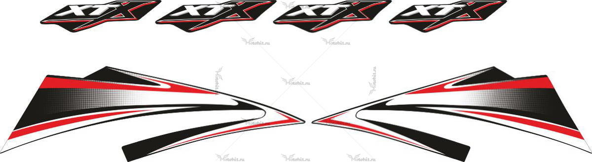 Комплект наклеек Yamaha XT-660-X 2006