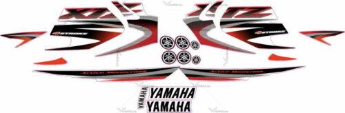 Комплект наклеек Yamaha XTZ-125 2005 RED
