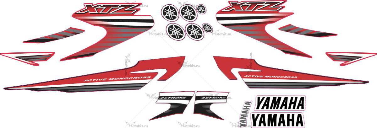 Комплект наклеек Yamaha XTZ-125 2007