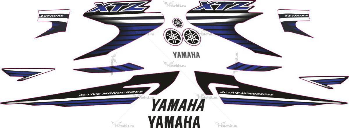 Комплект наклеек Yamaha XTZ-125 2008