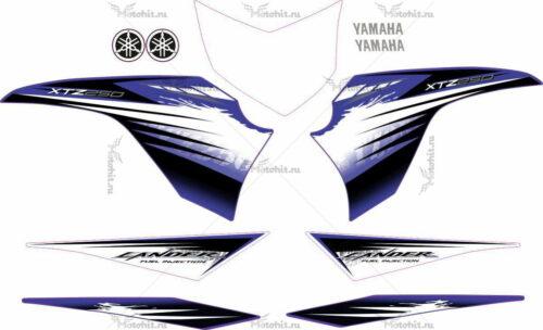 Комплект наклеек Yamaha XTZ-125 2012