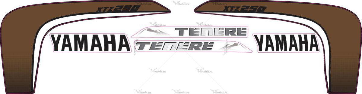 Комплект наклеек Yamaha XTZ-250