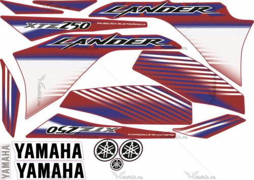 Комплект наклеек Yamaha XTZ-250 2009 2