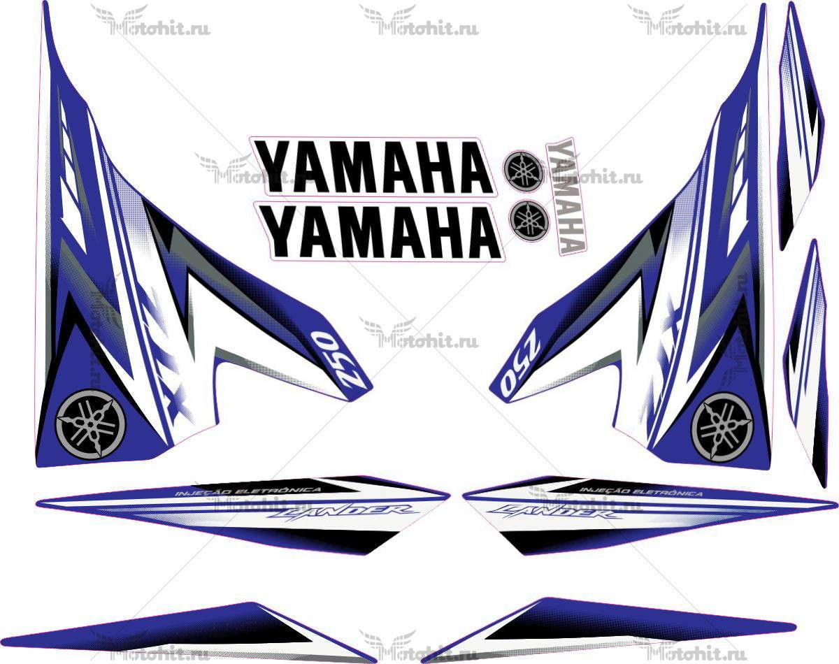 Комплект наклеек Yamaha XTZ-250 2009-2010