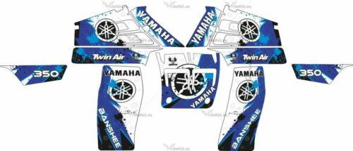 Комплект наклеек Yamaha YFZ-350 METAL-KIT-BLUE