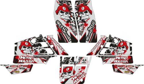 Комплект наклеек Yamaha YFZ-350 METAL-MULISHA-RED