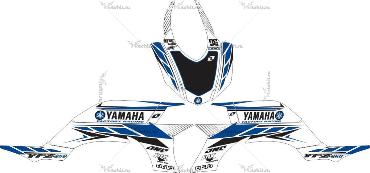 Комплект наклеек Yamaha YFZ-450 CLASSIC-BLUE