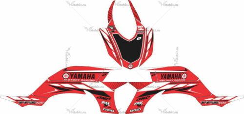 Комплект наклеек Yamaha YFZ-450 CLASSICRED-WHITE