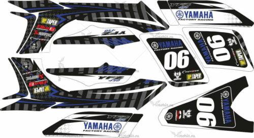 Комплект наклеек Yamaha YFZ-450 FACTORY-RACING