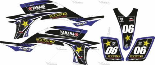 Комплект наклеек Yamaha YFZ-450 HART-HUNTINGTON-BLACK-BLUE