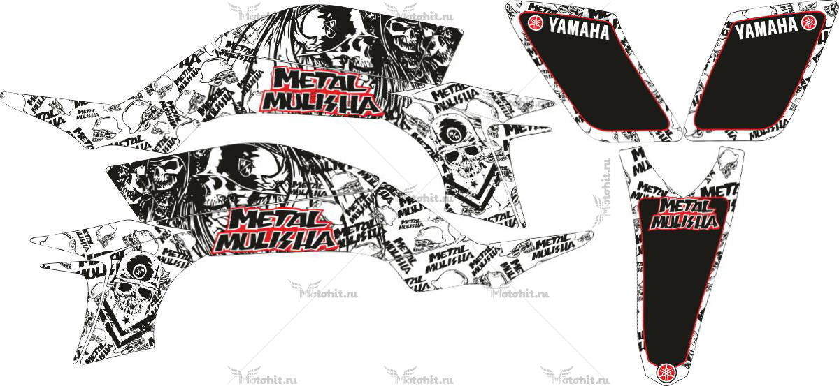 Комплект наклеек Yamaha YFZ-450 METAL-MULISHA