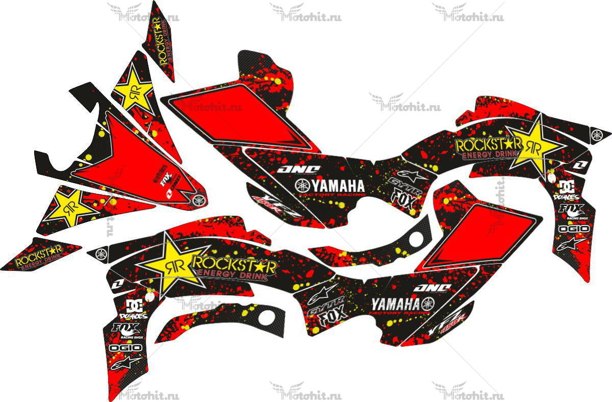 Комплект наклеек Yamaha YFZ-450-R RED-ROCKSTAR