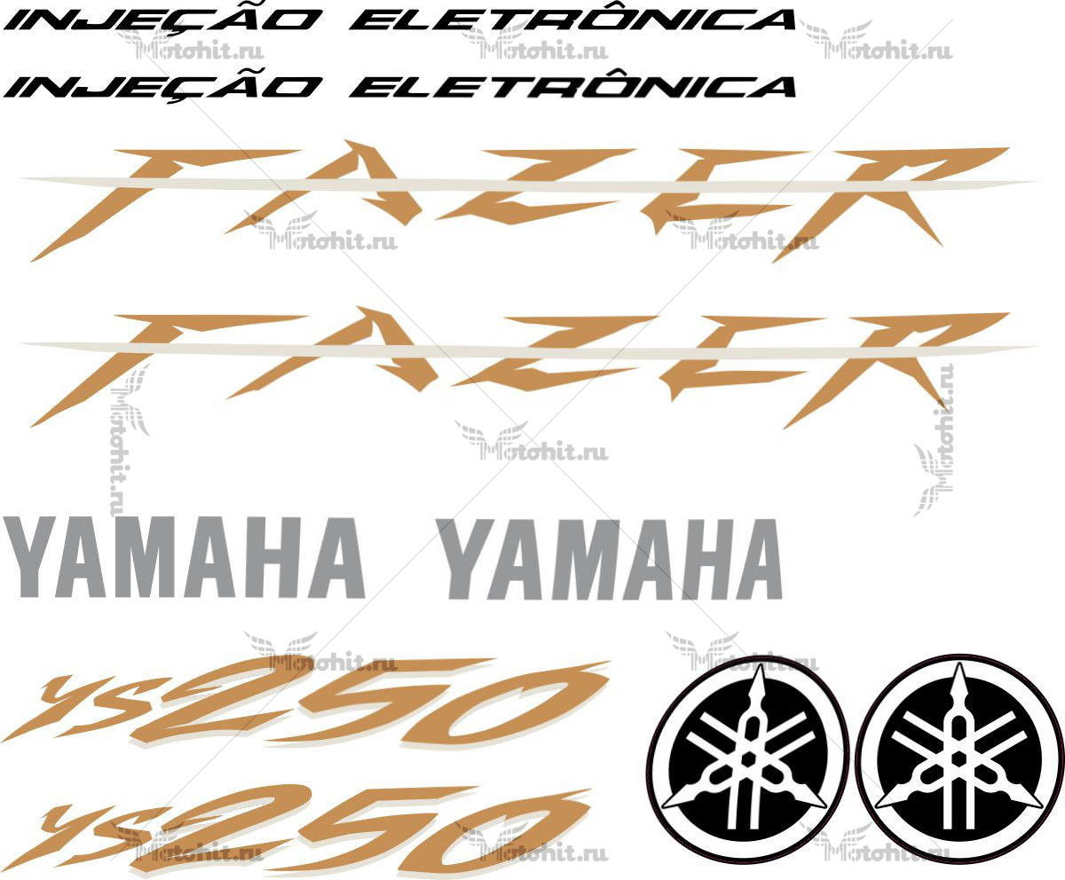 Комплект наклеек Yamaha YS-250 2009 FAZER