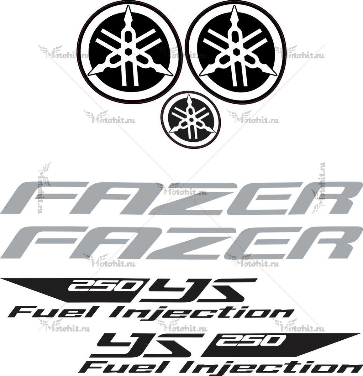 Комплект наклеек Yamaha YS-250 2012 FAZER