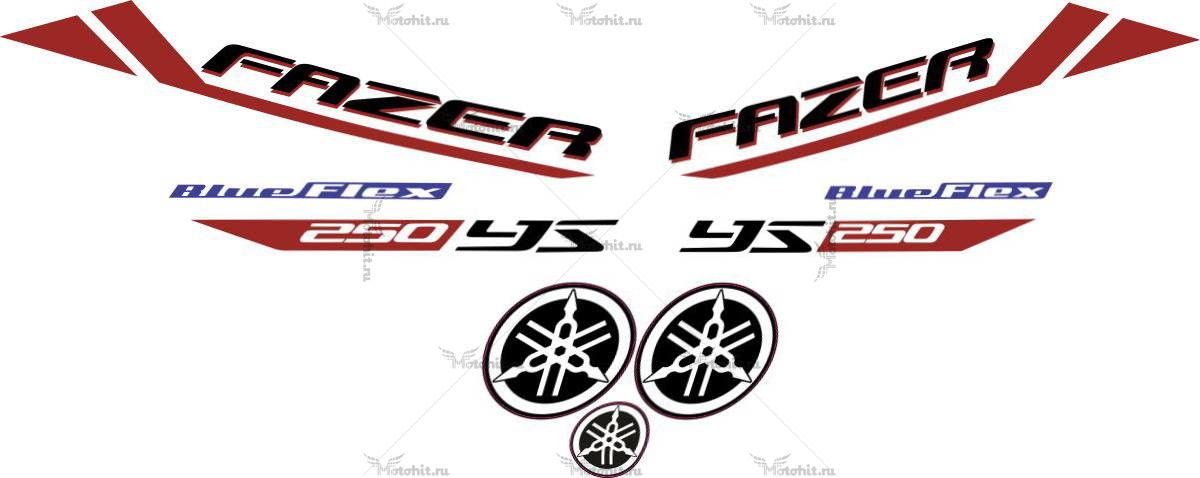 Комплект наклеек Yamaha YS-250 2013 BF-FAZER