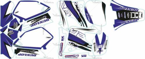 Комплект наклеек Yamaha YZ-125 YZ-250 1996-2001 DUNLOP2-RATEVE