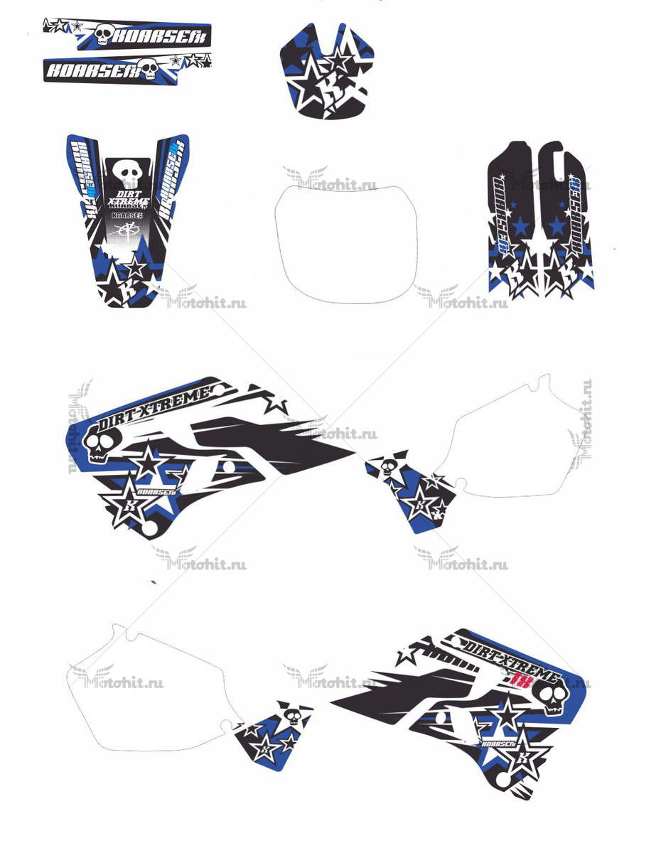 Комплект наклеек Yamaha YZ-125 YZ-250 1998 MOTO-XTREME