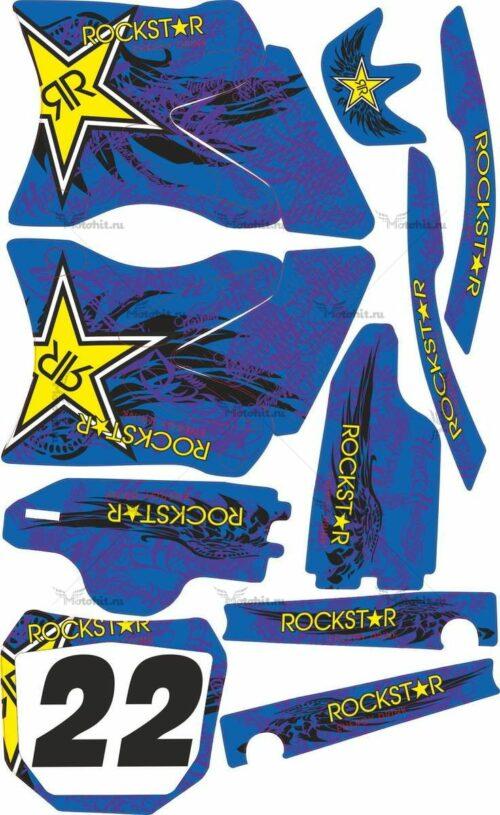 Комплект наклеек Yamaha YZ-125 YZ-250 2002-2007 ROCK-HART1-2