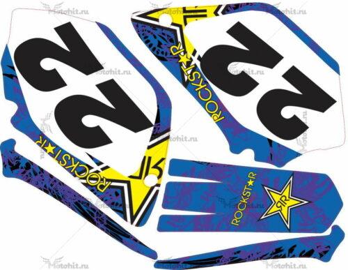 Комплект наклеек Yamaha YZ-125 YZ-250 2002-2007 ROCK-HART2-2
