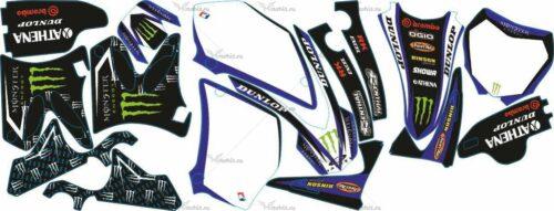Комплект наклеек Yamaha YZ-125 YZ-250 2002-2012 MONSTER1