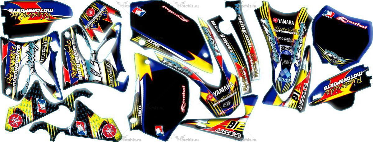 Комплект наклеек Yamaha YZ-125 YZ-250 2002-2012 RIVERSIDE2