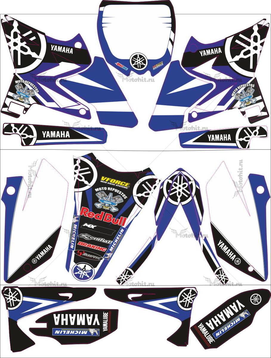 Комплект наклеек Yamaha YZ-125 YZ-250 2009 UFO