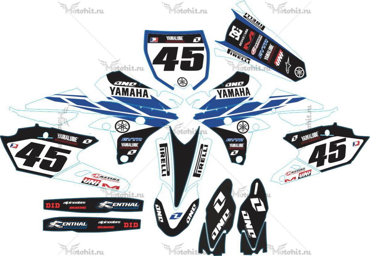 Комплект наклеек Yamaha YZ-250-F-450-F 2014 BLUE