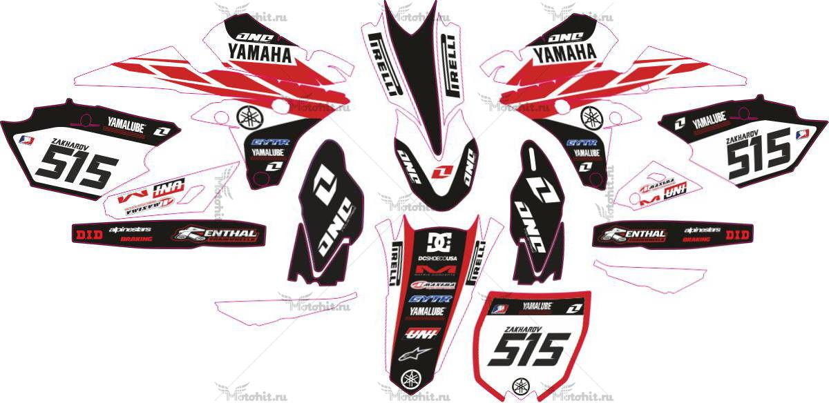 Комплект наклеек Yamaha YZ-250-F-450-F 2014 ORIG