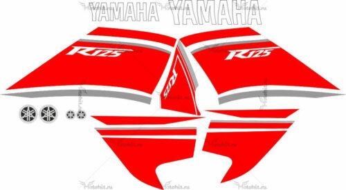 Комплект наклеек Yamaha YZF-125-R 2008 RED