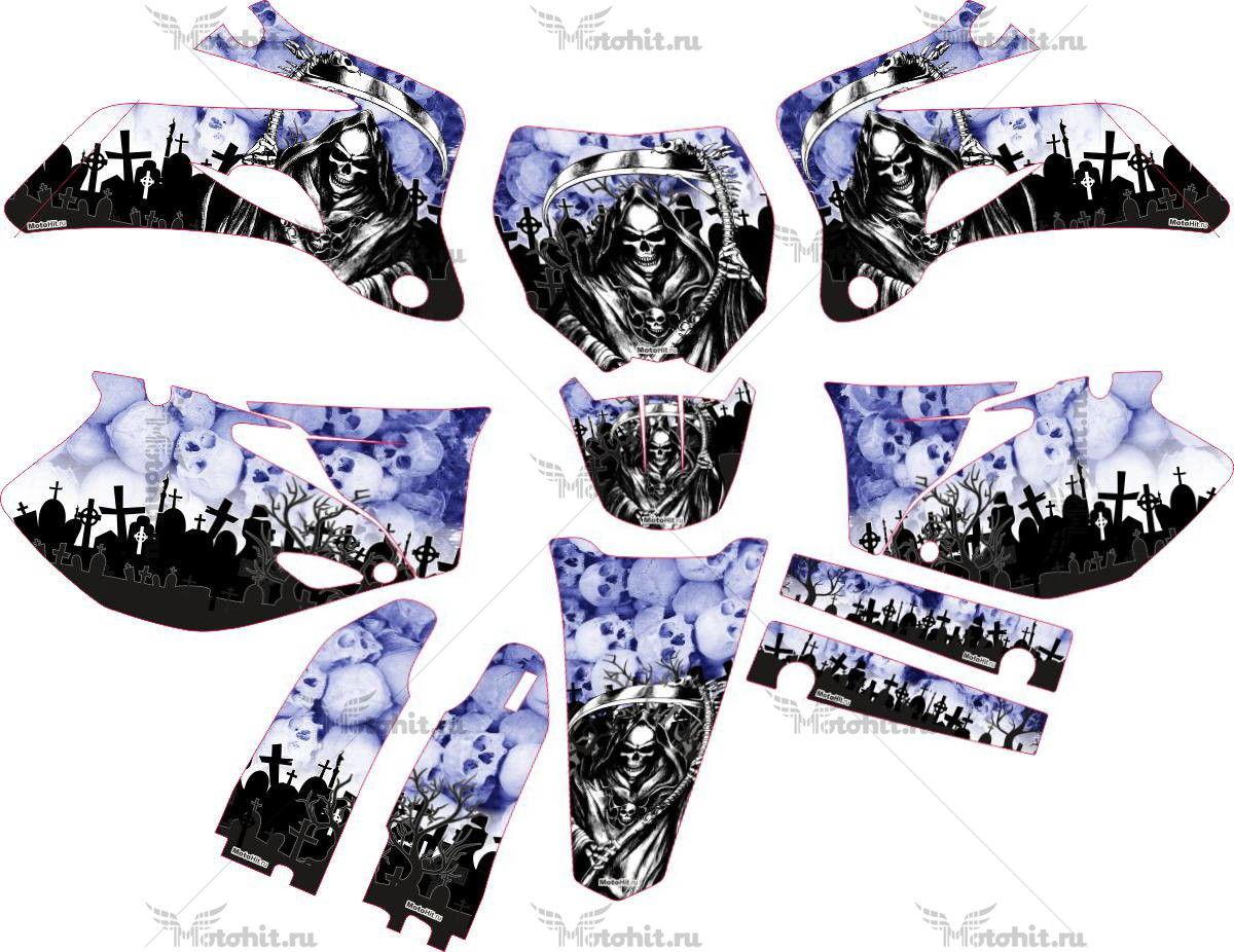 Комплект наклеек Yamaha YZF-250-450 2006-2009 BLUE-REAPER
