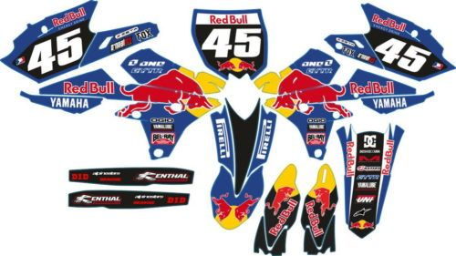 Комплект наклеек Yamaha YZF-250-450 2014 BLUE RED BULL