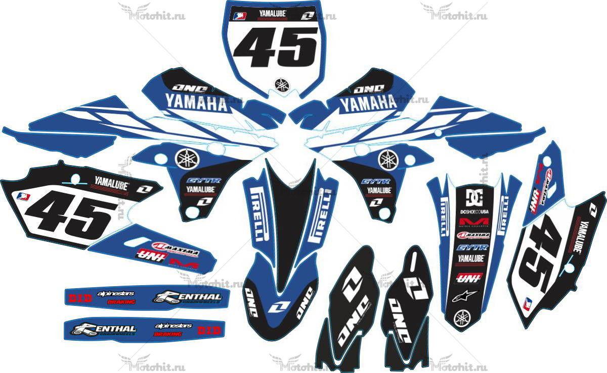 Комплект наклеек Yamaha YZF-250-450 2014 CLASSIC BLUE