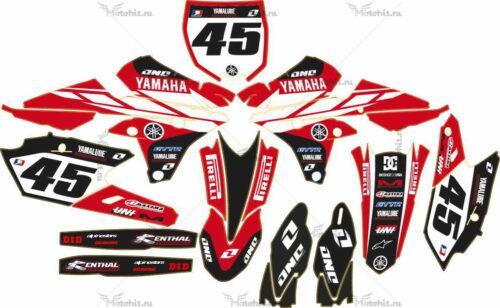 Комплект наклеек Yamaha YZF-250-450 2014 CLASSIC RED