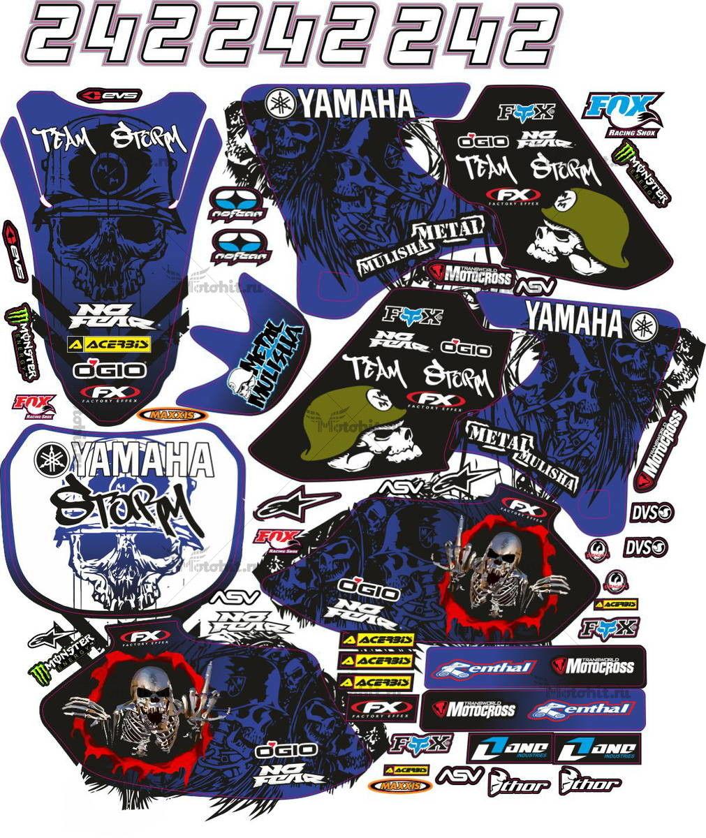 Комплект наклеек Yamaha YZF-250-426 2000-2002